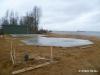 Das Fundament wurde gegossen. Februar 2012